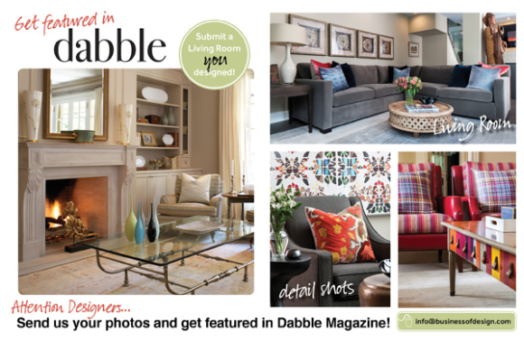 Your Living Room Design Featured in Dabble Magazine! featured image